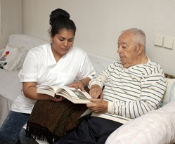 CNA with Calera AL nursing home patient